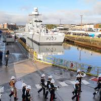 HMS Medway at BAE Systems' site at Scotstoun, Glasgow (Photo: BAE Systems)
