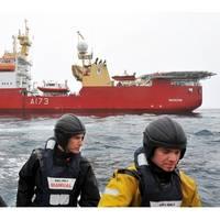 HMS Protector & Sailors: Photo credit MOD