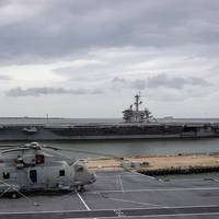 HMS Queen Elizabeth sails into Norfolk, Va. (Photo: U.K. Royal Navy)
