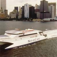 Hoverspeed Great Britain in New York prior to the record-breaking journey (Photo: Incat Tasmania)