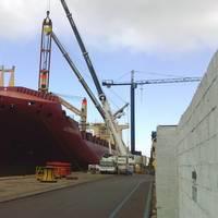 Gibdock undertook extensive crane renewal on the geared containership Aldebaran