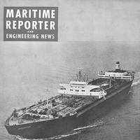Icebreaking tanker Manhattan on the cover of the September 1969 edition of Maritime Reporter and Engineering News