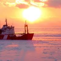 CCGS Griffon performing icebreaking operations. Credit - Canadian Coast Guard