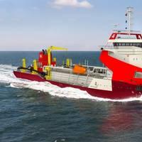 IHC Beagle 8 trailing suction hopper dredger courtesy Royal IHC