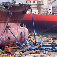 Illustration - A Shipyard in South Korea - Credit:Angelika Bentin/AdobeStock