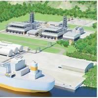 Illustration of small-scale LNG terminal with adjacent gas power plant (copyright: Wärtsilä)