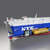 Image of LNG-fueled PCTC to be built. Image courtesy NYK