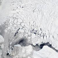 Image of sea ice in the Beaufort Sea, acquired on 3 June 2017 by the Moderate Resolution Imaging Spectroradiometer (MODIS) instrument, on board the Aqua satellite. (Photo: NASA)