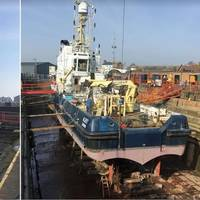 Images: ALERT 1 AND 2: The SMS Group, one of the country's leading ship repairers and marine engineering services providers, has refitted the Trinity House Vessel (THV) Alert. It has also won three publicly tendered 'Lots' with regards to mechanical and electrical maintenance for Trinity House.