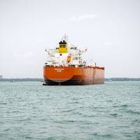 In May, the MV Barracuda made the first switch from dry cargo to jet fuel . (Photo: KCC)