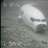 In this image taken July 8, 2021, the forward fuselage of Transair flight 810 is seen as it rests on the ocean floor about 2 miles from Ewa Beach. Rhoades Aviation Inc., dba Transair, flight 810, a Boeing 737-200, ditched in the waters of Mamala Bay near Honolulu, shortly after takeoff from Daniel K. Inouye International Airport, Hawaii, July 2, 2021. (Image: NTSB, courtesy of Sea Engineering, Inc.)