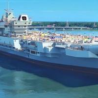 India's first indigenous aircraft carrier Photo: Cochin Shipyard Ltd.