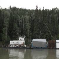 Inland Barge Services' push boat Ramona serves the communities along Alaska's Yukon River (courtesy of Inland Barge Service Inc)