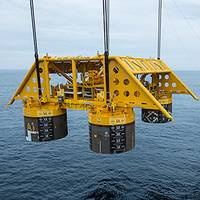 Installation of subsea template at the Åsgard field in the Norwegian Sea. (Photo: Øyvind Hagen)