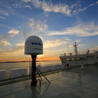 Intellian GX100 terminal onboard EUKOR Car Carrier