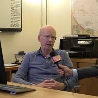 Jim McCaul, founder of International Maritime Associates, and Greg Trauthwein, Editor, Maritime Reporter & Engineering News (Photo: Eric Haun)