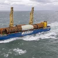 Jumbo Kinetic carrying monopiles for Yunlin Offshore Wind Farm - Credit: Jumbo