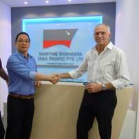 Kent Stewart & Han Jong Kwang at the new Singapore office.
