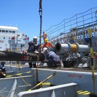 Kleline hoses used in STS transfer (Photo: Trelleborg)