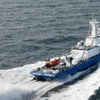 Korean Coast Guard Patrol Boat with 2 x HamiltonJet HT1000 and 2 x HM811 boost jets. Photo courtesy HamiltonJet