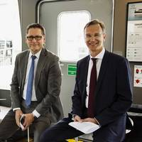 L to R Knut rbeck-Nilssen CEO DNV GL  Maritime Remi Eriksen DNV GL Group President  CEO Pierre Sames Group Technology  Research Director. Pic: DNV GL