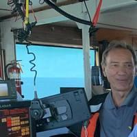 Lasse Petterson onboard GLDDs Dredge Texas. Photo: Great Lakes Dredge & Dock