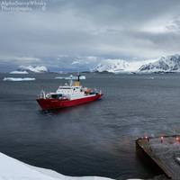 Last call of the JCR at Rothera (Photo: Alex Wallace / BAS)