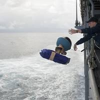 Launching Drifter Buoys: Photo credit USN