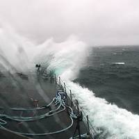 LCS 3 in Atlantic Storm: Photo credit USN