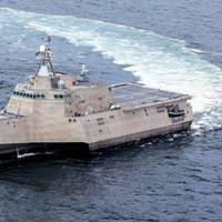 LCS 4 on sea trials: Photo credit USN
