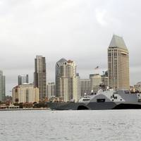 LCS Freedom off San Diego: Photo credit USN