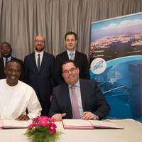 Left to right: Aboucacar Sedikh Beye, CEO of the port of Dakar – Kristof Waterschoot, managing director of PAI/APEC (subsidiaries of the port of Antwerp). Photo: Port of Antwerp