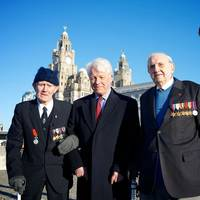 Left to right: BOA veteran Jim Rainsford, Vice Admiral Mike Gretton campaign chairman, veteran Graeme Cubbin (Photo: Battle of the Atlantic Memorial Campaign)