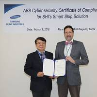 Left to right: Dr. Dong Yeon Lee of SHI and Paul Walters, ABS Director, Global Cybersecurity (Photo: ABS)