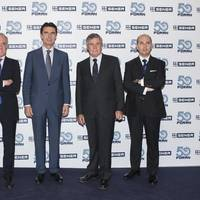 Left to right: Managing Director of SENER, Jorge Unda; Spanish Minister of Industry, Energy and Tourism, José Manuel Soria; President of SENER, Jorge Sendagorta; and Marine General Manager of SENER, Rafael de Góngora. (Photo: SENER)