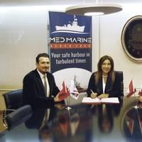 Left to right: Oben Naki - Contracts Manager, Robert Allan Ltd.; Yıldız BOZKURT - Deputy General Manager, Med Marine; and Ertuğrul ÇETİN - Procurement Manager, Med Marine (Photo: Robert Allan Ltd.)