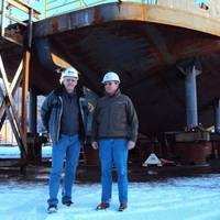 Left to right: Randy Johnson, President of Alaska Ship & Drydock, and Doug Ward, Director of Shipyard Development. Photos courtesy Alaska Ship & Drydock