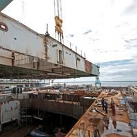 Lifting the Module: Photo credit HII