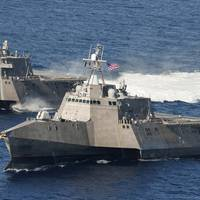 Littoral combat ships USS Independence (LCS 2) and USS Coronado (LCS 4). (U.S. Navy photo by Keith DeVinney)