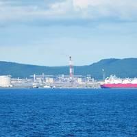 LNG plant inSakhalin: Image courtesy Gazprom
