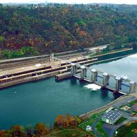 Locks & Dam 4, Monongahela River, also known as Charleroi Locks and Dam. (Photo: U.S. Army Corps of Engineers)