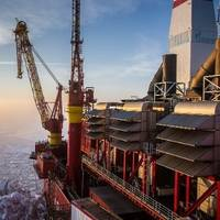Prirazlomnaya offshore platform: Photo courtesy of Gazprom