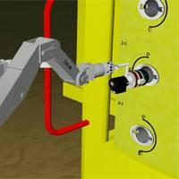 DockDeploy&Operate - GRL's ROVolution v4.0 simulating a Titan manipulator applying a torque tool to turn a valve.
