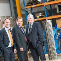 (l-r) Glacier Energy Services chairman, Scott Martin; Ross Offshore director Toby Ross; Glacier: Offshore MD Mark Derry; engineering technician Craig Marr.