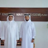 (L-R): Mr. Khalifa Abdulla Al Romaithi, new chairman of GEM; Mr. Saeed Abdulla Khoory; current chairman of GEM; and Mr. Ahmed AL Falahi, CEO of GEM.