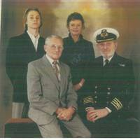 L-R Roderick Davis, son, Thelma Davis, wife, Reginald Bowker, father in law, Captain Roy Davis