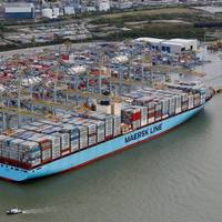 Maersk Edith alongside at DP World London Gateway (Photo: DP World)