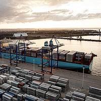 Maersk Triple E ship in port (Photo courtesy of Maersk Line)