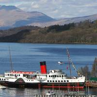 Maid of the Loch at Balloch Pier [Photo: Loch Lomond Steamship Company]