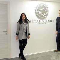 Managing Director Teuta Duletic (left) and Technical Manager Drazen Debelic at Metal Shark Croatia.
